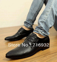 Cheap Wholesale New arrival hot sale British male skateboard Martin noble cowboy business lace up pointed men dress shoes EU38-43