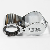 Wholesale 30x21mm triplet loupe x Magnifier Glass for Jewelry amp watch repair