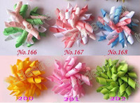 Wholesale NEw pink korker hair bows SEW ones korker hair clips boutique corker hair clips