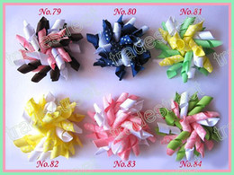 mix color yellow 120ps 2.5'' korker hair bows(SEW ones) korker hair clips boutique corker hair clips