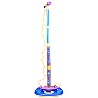 Wholesale Electronic Stage Karaoke Music Microphone Toy Set for Kids Children Can Connect Mp3 Player with Audio Cable