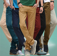 Wholesale 2015 Men s Slim Fit Skinny Stretch Pencil Jeans Pant Slacks Male Casual Stylish Business Leisure Long Trousers Overalls Clothing