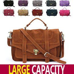 Wholesale 10 Colors Celebrity Jessica Alba Brand Women Fashion Suede Leather Quality Crossbody Satchel Messenger Bag Promotion
