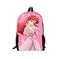 ariel backpack - whosepet mochila infantil back pack ariel the mermaid backpack school bag for kids princess cartoon backpack