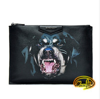 america cosmetics - Europe and America tide products Rottweiler Hound dog s head ipad bag clutch bag cosmetic bag