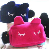 Cheap Cheap&High Quality Cute Cat Shape Cosmetic Bags Cartoon Cell Phone Bags Handbags Makeup Bag