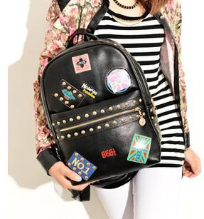 Women'S Leather Spiked Backpack New High Fashion Punk Rivet Cute ...