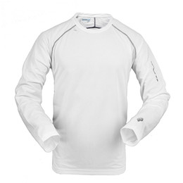 Wholesale Al por mayor Nuevos hombres de la marca al aire libre de senderismo camiseta de manga larga de secado rápido sportwear bicicleta Coolmax acampar camiseta Salomón S