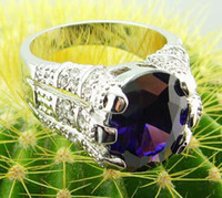 Women's alexandrite engagement ring - womens gorgeous ring with large alexandrite gemstone rings k GP white gold rings beautiful jewelry