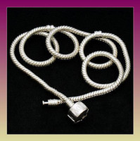 Wholesale 20 European style silver snake chain necklace MM inch fit beads