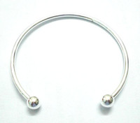 Wholesale 10pcs Silver Plated Bangle Bracelets For DIY Craft Fashion Jewelry Gfit inch C15