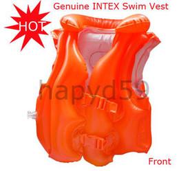Genuine INTEX children Swim Vest swimming suit orange swimming life vest ring swim buoy