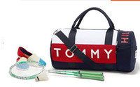 brand tennis bag - Cylinder Leisure Tennis bag brand cotton large capacity gym sport fitness bags for women men s travel bag bolsas deporte