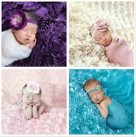 baby blanket silk - 9 Colors newborn photography background cloth rose children photography props baby photo studio shooting blankets
