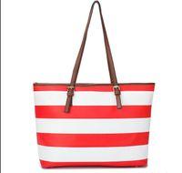 designer handbags brand name - 2015 Women Handbags Brand Name Fashion Colors Ladies Tote Famous Stripe Style PU Leather Designer Bags FK58