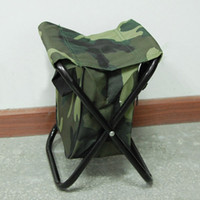 Wholesale New Portable sillas camping Camo Folding chair Camp Stool with Pocket Chair folding chair Camping Chair