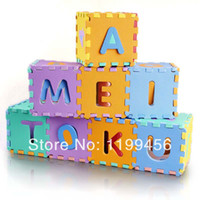 Wholesale 36 Environmentally EVA Foam Numbers Alphabet Play Mat Puzzle Floor Mats Baby Carpet Pad Toys For Kids Rug Toy Store cm