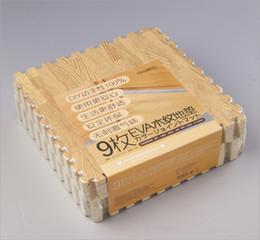 Wholesale 9pcs Wood Grain Split Joint EVA Foam Puzzle Mat cm cm cm Foam Floor Baby Gym Play Mat Tapete Infantil colors