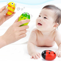 Wholesale 1 X Voguish Charming Baby Educational Wooden Egg Toy Musical Maracas Shaker Instrument Cute Gift