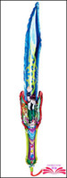 balloon sword - Nice Sword shape balloon inflatable balloon stick cartoon head balloon clappers