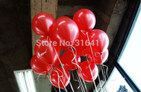 balloon thickness - 1 g pc pc Inch Latex thickness wedding decoration birthday ballon Christmas Ball Pearl Helium Red balloons
