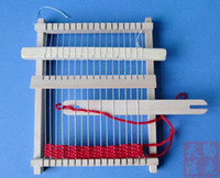 Wholesale Medium Traditional Wooden Weaving Loom with Accessories Childrens Craft Toy Box