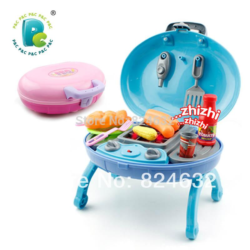 new arrival children kitchen toys set children play house barbecue