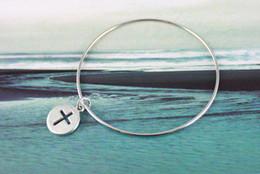 20PCS Cross Round Drop Bangle Chain Bracelets 20CM #20279