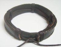 Wholesale 10pcs Mix color Leather Bangles Bracelets For DIY Craft Fashion Jewelry Gfit adjustable inch LB0