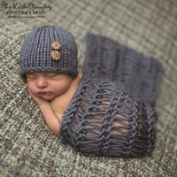 handmade product - Newborn prop baby crochet costume photography beanies and blanket handmade knitting atrezzo fotografia china distributor product