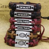 black jesus - 6x assorted adjustable jewelry fashion mens bracelets JESUS WWJD bangle cuff for mens religious gifts