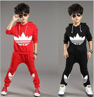 boys and girls clothing - 2015 fashion new autumn winter Children Tracksuit casual kids clothes sets boys and girls hoodie and coat trousers