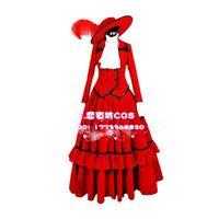 angelina butler - Black Butler Kuroshitsuji Red Madam Cosplay Angelina Dulles Fancy Dress
