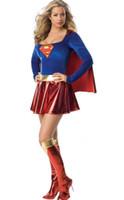 Wholesale New fashion sexy Supergirl Costume S M L XL XL S1093