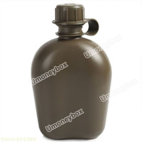 aluminum lunch box - Outdoor Water Bottle Kettle Canteen with Aluminum Lunch Box and Keep Warm Pouch Army Green