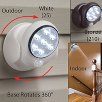 art deco outdoor lighting - Automatical Rotate Body Light Sensors Wall Mounted Lamps Motion Activated Cordless Sensor LED Light for Indoor Outdoor Garden