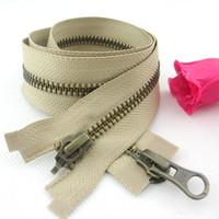 antique brass zipper - pieces High Quality ykk metal antique brass zipper bronze cm diy zipper fit clothes bags ca135
