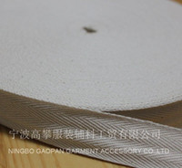 Wholesale quot mm Raw white NATURAL COLOR herringbone twill cotton tape Cotton webbing Bias binding tape m roll