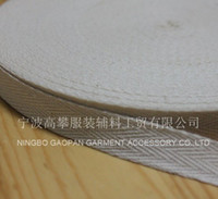bias tape - mm Raw white natural color herringbone twill cotton tape Cotton webbing Bias binding tape m roll
