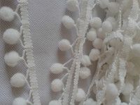 ball fringe curtains - High Quality White Pompom Ball Lace Fringe Tassel Trimming For Sewing Curtain Clothes Accessories Y CM Diy