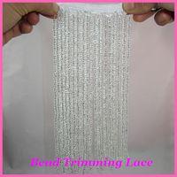 beaded tassel trim - cm Beaded fringe Tassel lace latin trimming lace pink silver cm