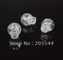 Wholesale package Cord Lock Toggle Stopper plastic Transparent clear frost Size mm mm mm toggle clip FLS002 TS