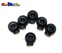ball cord lock - Pack Cord Lock Toggle Stopper Round Ball Plastic Black Size mm Height mm Width toggle clip FLS051 B