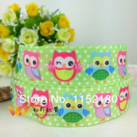 character ribbon - mm owl character printed grosgrain ribbon yards