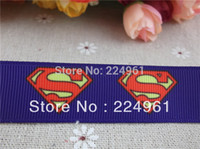 character ribbon - new arrival mm purple superman grosgrain ribbon cartoon ribbon printed movie characters ribbon yards tape