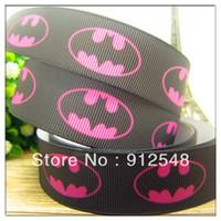 batman ribbon - 7 mm batman printed Grosgrain ribbon Polyester cartoon Ribbon haribow accessory gift pack wm2714