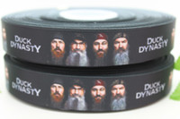 duck dynasty - Hot New arrival duck dynasty ribbon printed grosgrain hairbow diy party decoration OEM mm