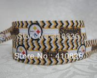 sports ribbon - WM ribbon OEM mm inch sport quot Steelers quot Printed Folded Over Elastic FOE yds roll
