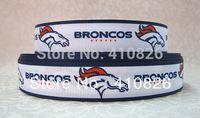 sports ribbon - WM ribbon inch mm quot Broncos quot Sport Printed grosgrain ribbon yds roll
