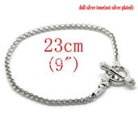 Wholesale Silver Tone Toggle Clasp Bracelets Fit European Charm cm quot B15981